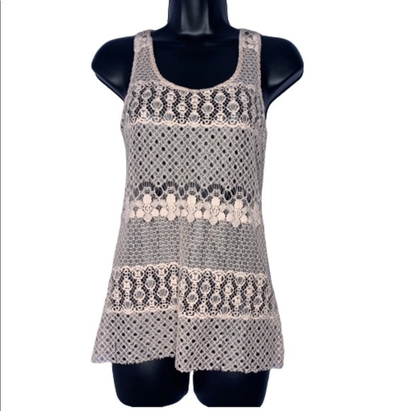 happening in the present Tops - H.I.P. Crochet Tank Size S